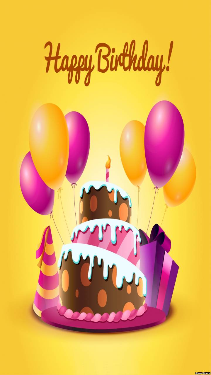 Download Cake And Balloons HD Wallpaper and Backgrounds